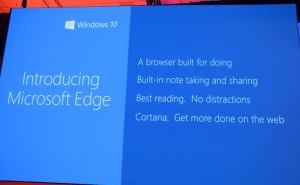 Project Spartan Renamed to Edge